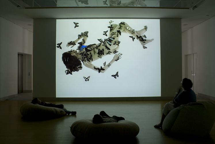 Centre d'art contemporain Stuttgart Sindelfingen, 2008, projection vidéo 3,5 x 5m, 20min en boucle