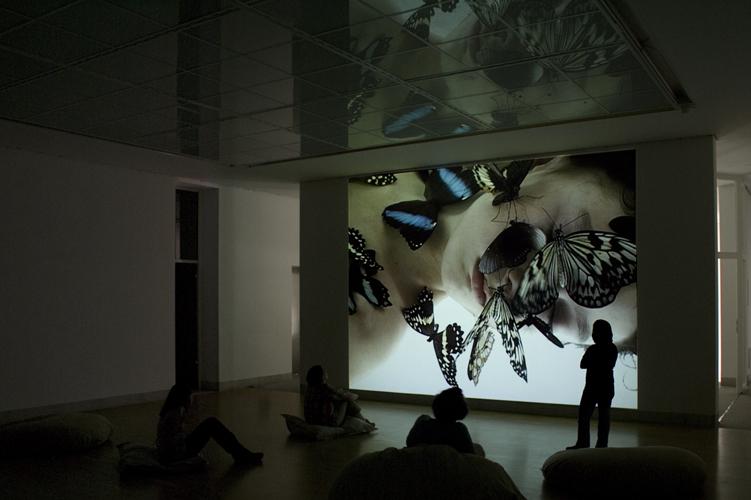 Centre d'art contemporain Stuttgart Sindelfingen, dispositif vidéo sonore,