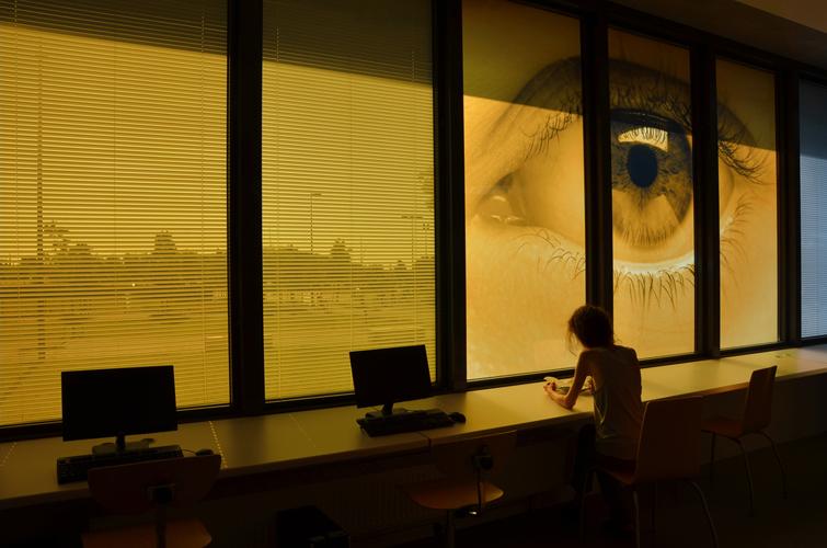 VeV / ec&uk / CDI intérieur /1% artistique collège François Mitterrand, Simiane, Marseille / 2013
