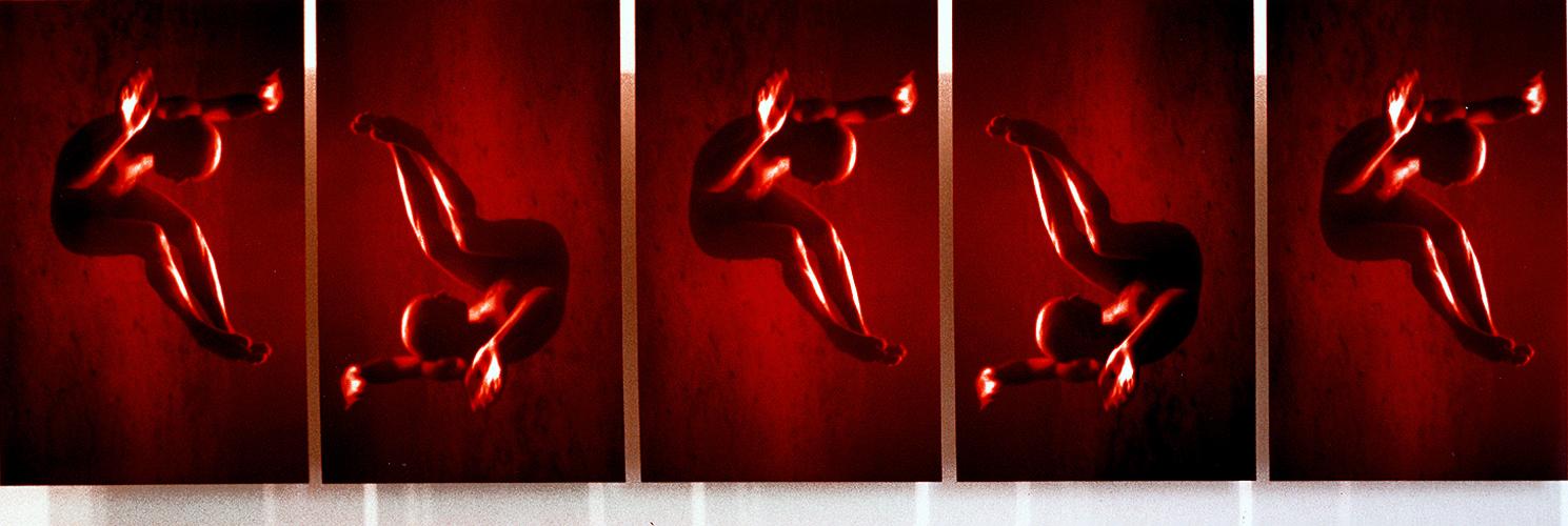EXPRTT.5, 30 x 45 cm /x5, format total 160 x 45 cm, tirages photographiques Cibachrome sur alucubond