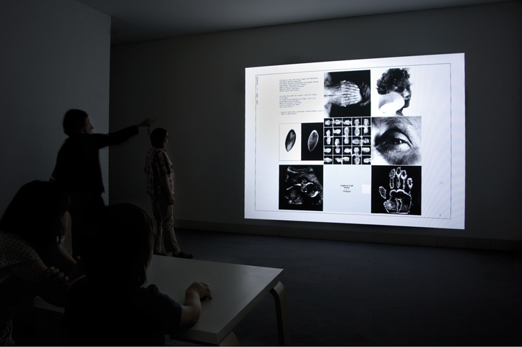Projection CDRom interactif, centre d'art contemporain Stuttgart Sindelfingen, 2008