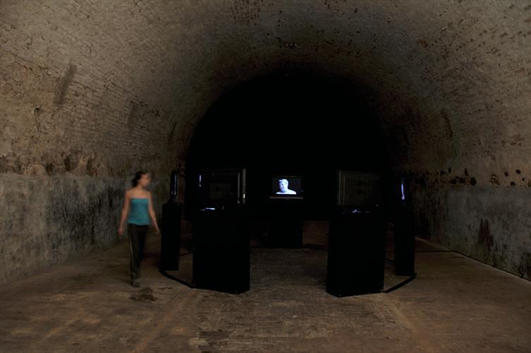 Installation vidéo, Biennale d'art contemporain, Selest'Art 09