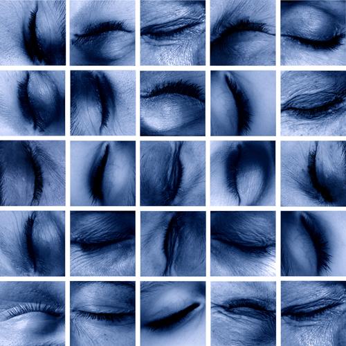 memory_4, 25 pièces uniques à 29 x 29 cm, memory complet 160 x 160 cm,  Edition  25 pièces de 7,5 x 7,5 cm