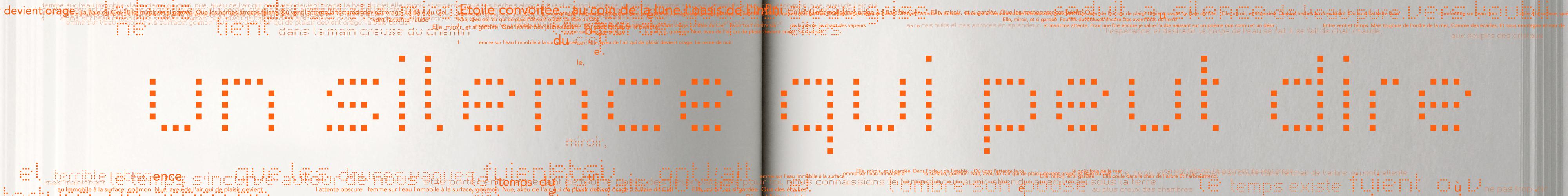 Images Livre -Texte sur plaques de verre, 4,5m x 1m, arche sortie